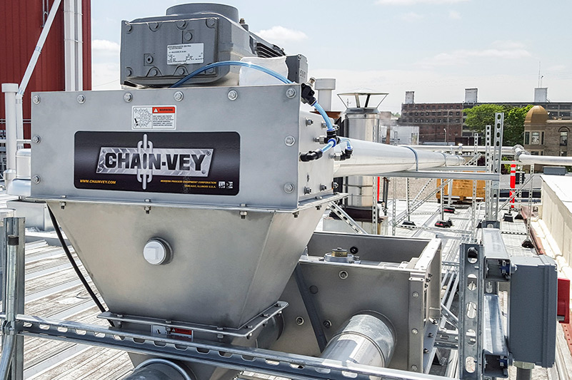 Chain Conveyor for Malt and Brewing Grains | MPE Chicago