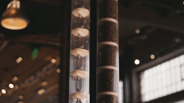 Chain-Vey Tube Conveyor at Starbucks Reserve Roastery