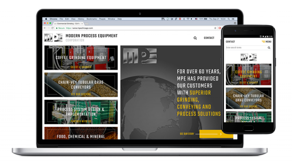 MPE mobile-friendly website